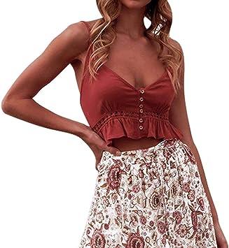 Costura Color de ContrasteTops Cortos Mujer Ronamick Flores Lace Camisetas Despedida Soltera Mujer Blusa de Encaje Mujer Flores Lace Camisa Hippie Mujer(rojo,L): Amazon.es: Iluminación