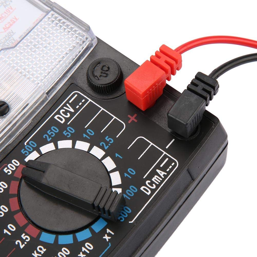Mult/ímetro Anal/ógico Medir Voltaje Rango 21 18 Engranajes Alta Precisi/ón Electricista Mult/ímetro de Puntero Ense/ñanza de Medici/ón de Voltaje AC//DC para Radio Corriente y Resistencia