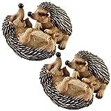 Design Toscano Hyper Hedgehogs Garden Statues: Set of Two