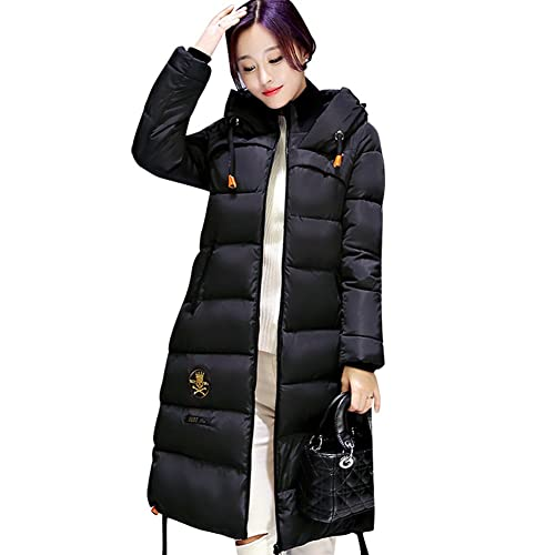 BOMOVO Mujeres Abrigo de Manga Larga con Capucha Coat Jacket talla grande