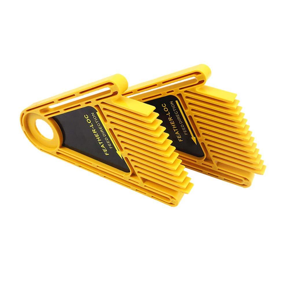Flushzing 2PCS Polyvalent Plume Conseil Guide de Coupe de Bois Trimmer Table /à toupie Scie /à Ruban cl/ôture Accessoires Peignes