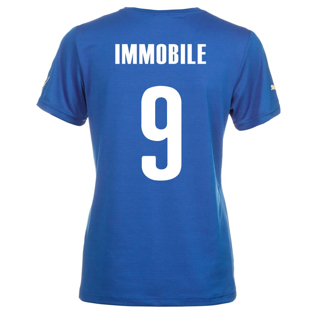Puma IMMOBLE #9 Italy Home Jersey World Cup 2014 (Women) (L)