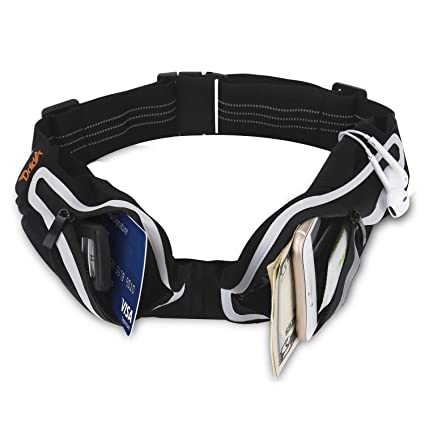 64b869f11045 Ddida Running Belt Reflective Waist Fanny Pack for iPhone X7 8 Plus,Phone  Holder for Running-Waterproof Fitness Pouch, Black Runners Belt for ...