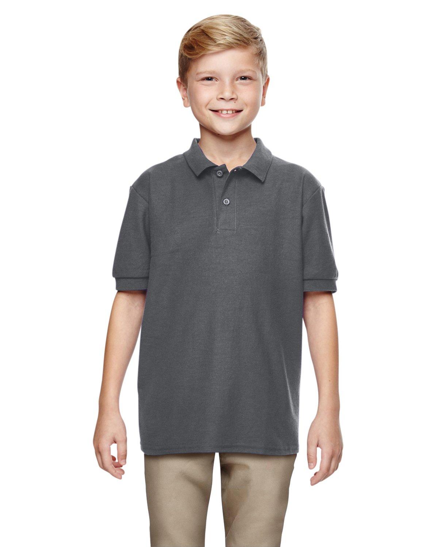 Gildan Boys DryBlend 6.3 oz. Double Piqué Sport Shirt (G728B) -Charcoal -S-12PK