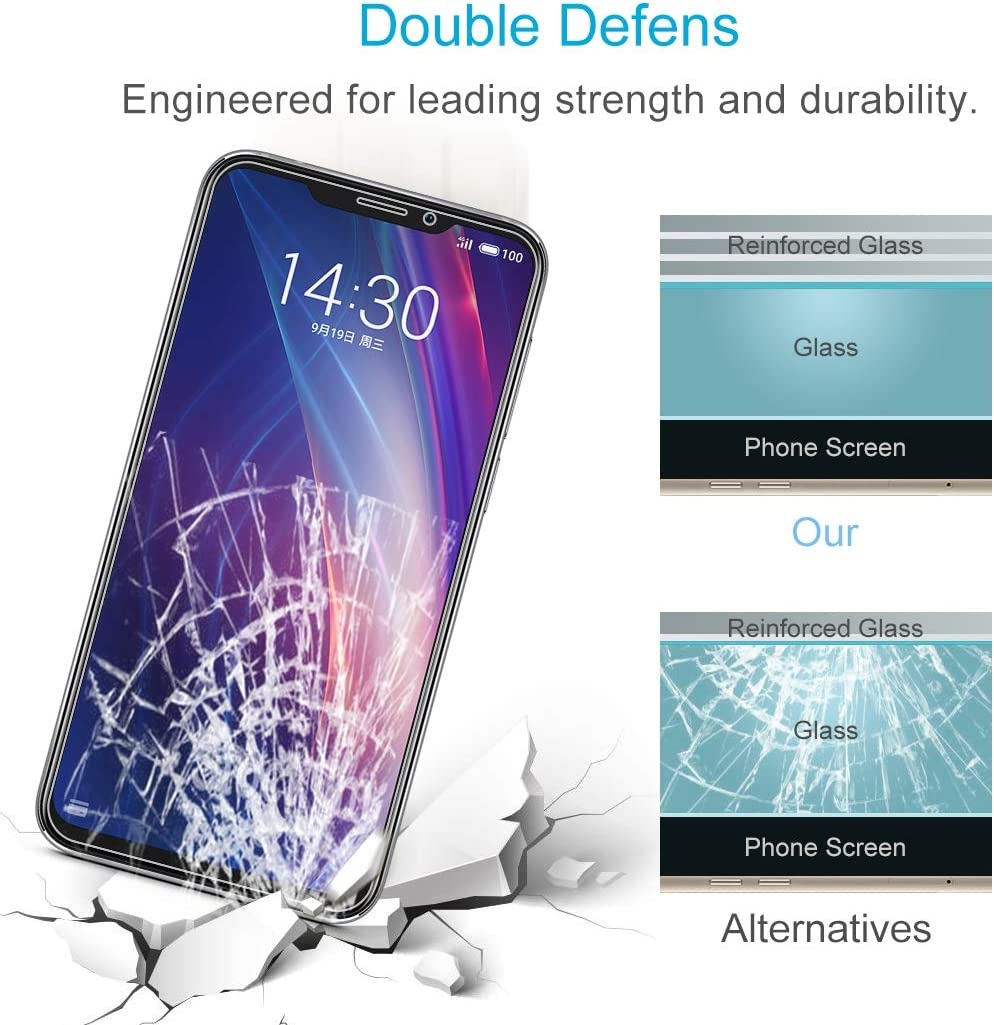ZYS Screen Protector 100 PCS 0.26mm 9H 2.5D Explosion-Proof Tempered Glass Film for Meizu X8