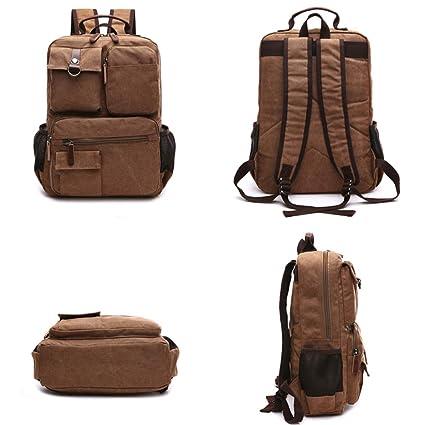 Moda casual Brown 25L AYEMOY Zaino sportivo per uomo e