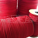 50 Meters x 10mm RED ELASTIC BUNGEE ROPE SHOCK CORD TIE DOWN, ROOF RACKS TRAILERS BOATS - FREE UK DELIVERY by Falcon Workshop Supplies