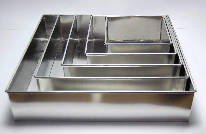 /5/Unidades Euro Tins 5/moldes Cuadrados para Pastel de Boda/