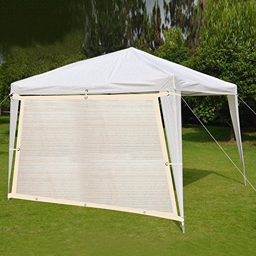 Shatex 90% Hanging-up Sunblock Shade Panel with Grommets for Window/RV Awning, Sun shelter,Patio Cover 16'x 16', Wheat by Shatex