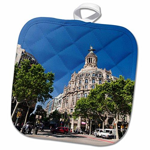 3D Rose Passeig De Gracia-Barcelona-Spain-Eu27 Spi0122-Sergio Pitamitz Pot Holder, 8 x 8'' by 3dRose