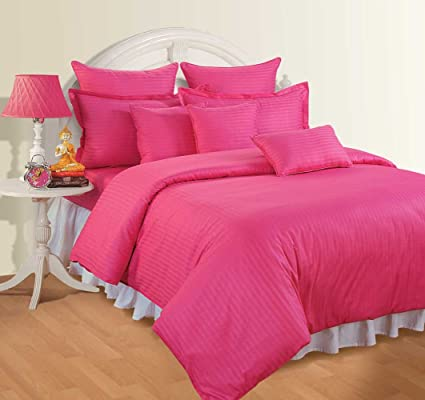 Elasticated Fitted bed Sheet for SINGLE bed PINK Colour 56 Picks Thread count132