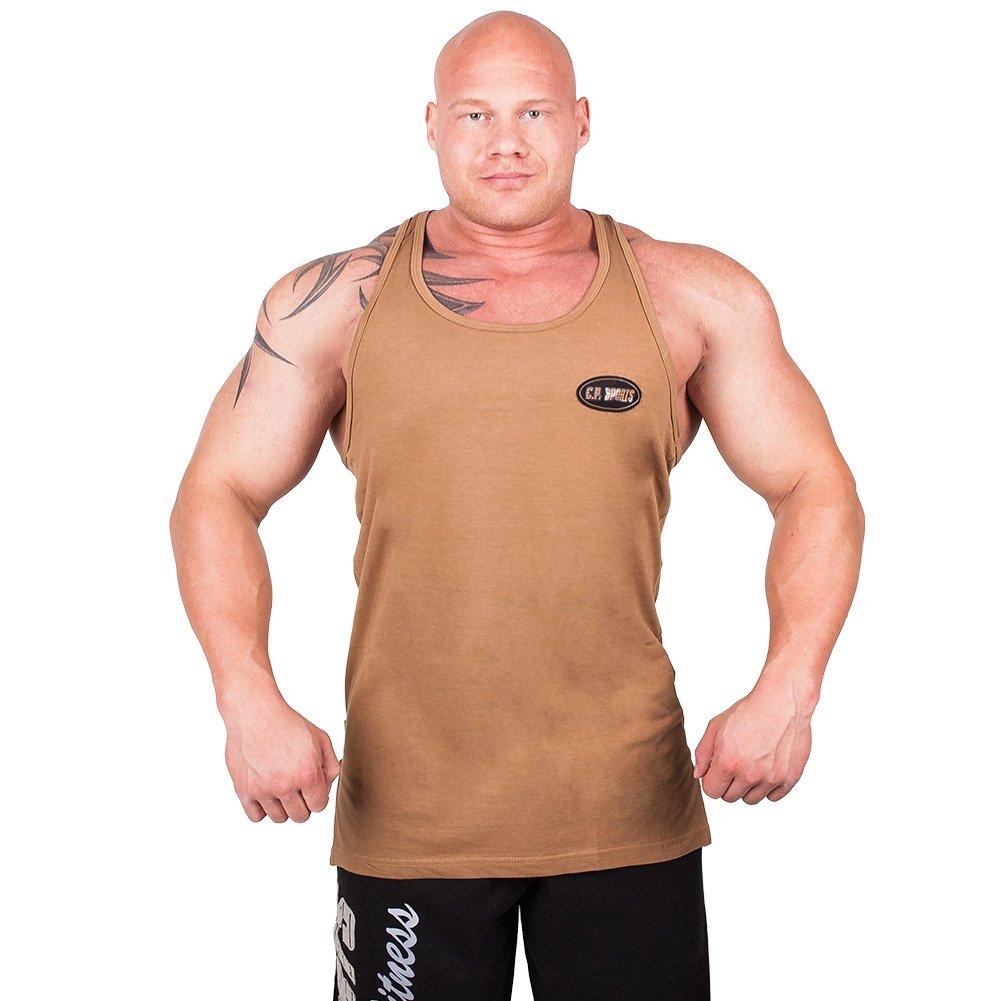 Olympian Tank-Top S6 - Farbe: Khaki, Bodybuilding & Kraftsport + Trainings T -Shirt: Amazon.de: Sport & Freizeit