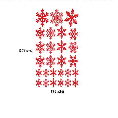 Amazoncom Christmas Decorations Christmas Snowflake Window - Snowflake window stickers amazon