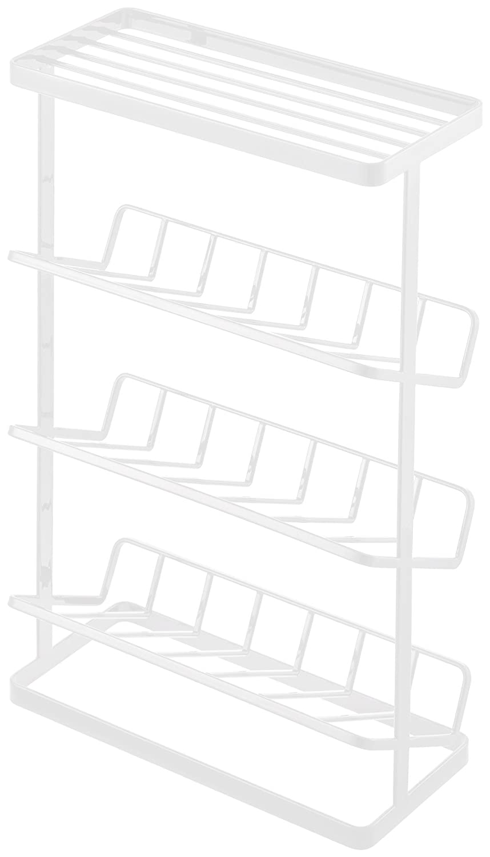 YAMAZAKI home Tower Free Standing Shower Caddy – Bathroom Organizer Storage Holder, White