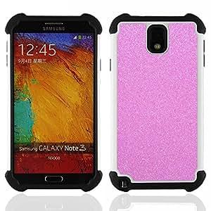 For Samsung Galaxy Note3 N9000 N9008V N9009 - pink glitter sparkling plastic diamond Dual Layer caso de Shell HUELGA Impacto pata de cabra con im????genes gr????ficas Steam - Funny Shop -