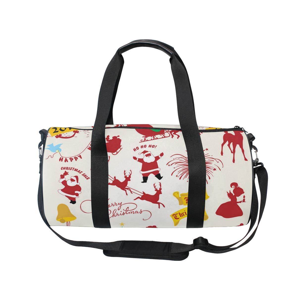 A Lot Of Large Santa Claus Popular casual fitness bag,Non-Slip Wearable Crossbody Bag Waterproof Shoulder Bag.