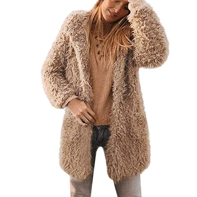 POLP Abrigos mujer Abrigos de Invierno para Mujer Invierno Abrigo Casual Chaqueta de Lana Capa Jacket Abrigo Corto Fleece Warmer Abajo Chaqueta emulational ...