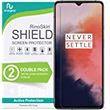 (2-Pack) RinoGear Screen Protector for OnePlus 7T Case Friendly OnePlus 7T Screen Protector Accessory Full Coverage Clear Fil