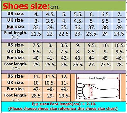 Pigre 4 Unita Juleya Scuola Nero 35 Testa Scarpe Scarpe Elegante Rotonda da Colori Tinta 43 Casual Retro Scarpe Donna Scarpe Scarpe Basse Mocassini Maglia Casual Ufficio pA1zpPwq