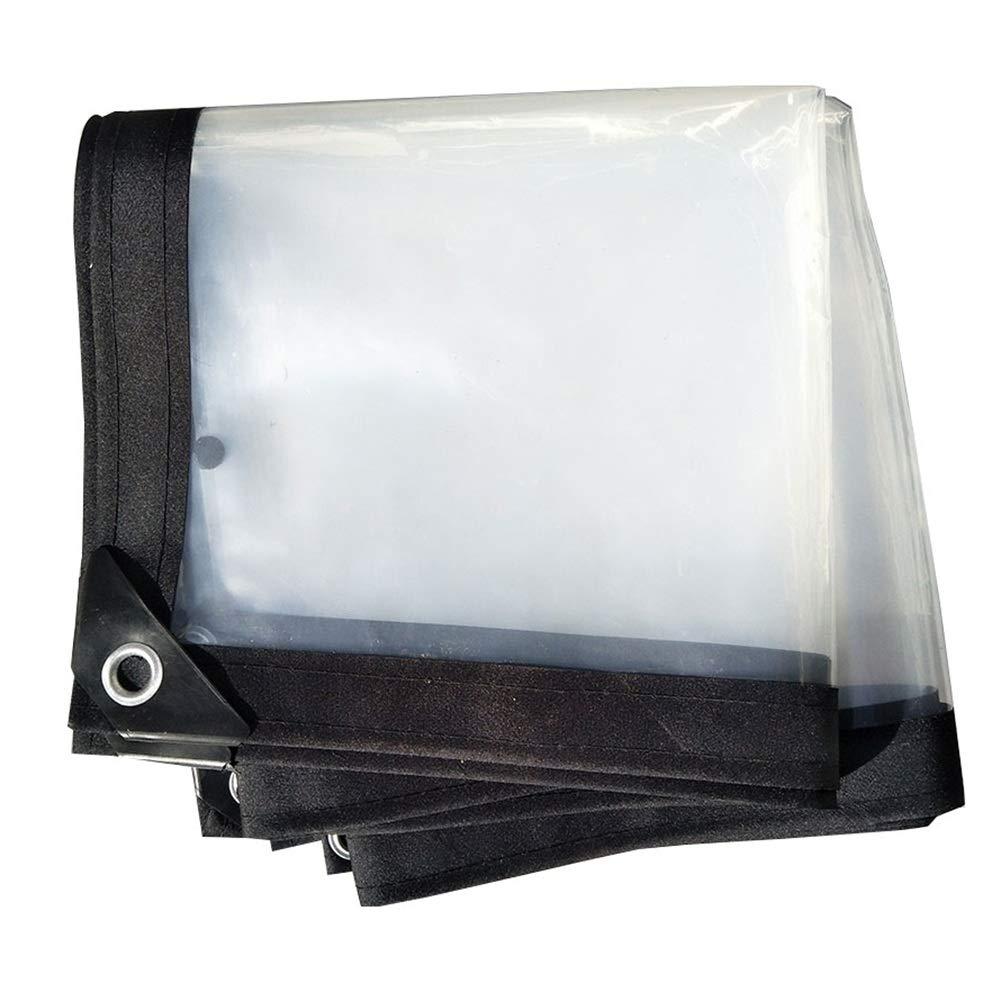 ZEMIN オーニング サンシェードテン トタープ レインプルーフ 風防ガラス 安定した 耐食性 ボタンホール PE、 24サイズ (色 : クリア, サイズ さいず : 3x10m) 3x10m クリア B07Q1XCQJK