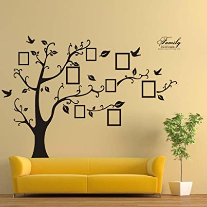 Amazon.com: YJYdada 3D DIY Photo Tree PVC Wall Decals Adhesive Wall ...
