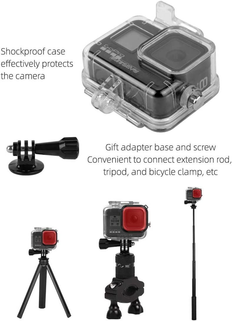 Hurricanes Waterproof Housing Case Filter Kit Compatible with GoPro Hero 8 Black 3 Pack Dive Filter Accessories Waterproof Case Diving Protective Housing