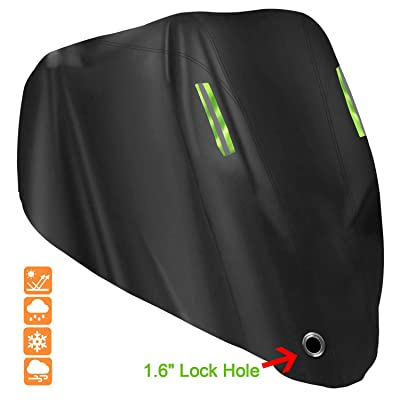"Waterproof Motorcycle Cover, Gutupet All Season Outdoor Protection scooter Cover XXL, 210D Oxford Durable and Tear Proof with Lock-Holes & Storage Bag Fits up to 104"" Motors like Honda, Yamaha, Suzuki: Automotive [5Bkhe0109054]"