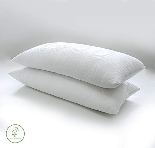 Pack 2 Almohadas, Funda Exterior Lavable y Transpirable, firmeza Media, 90x40cm: Amazon.es: Hogar