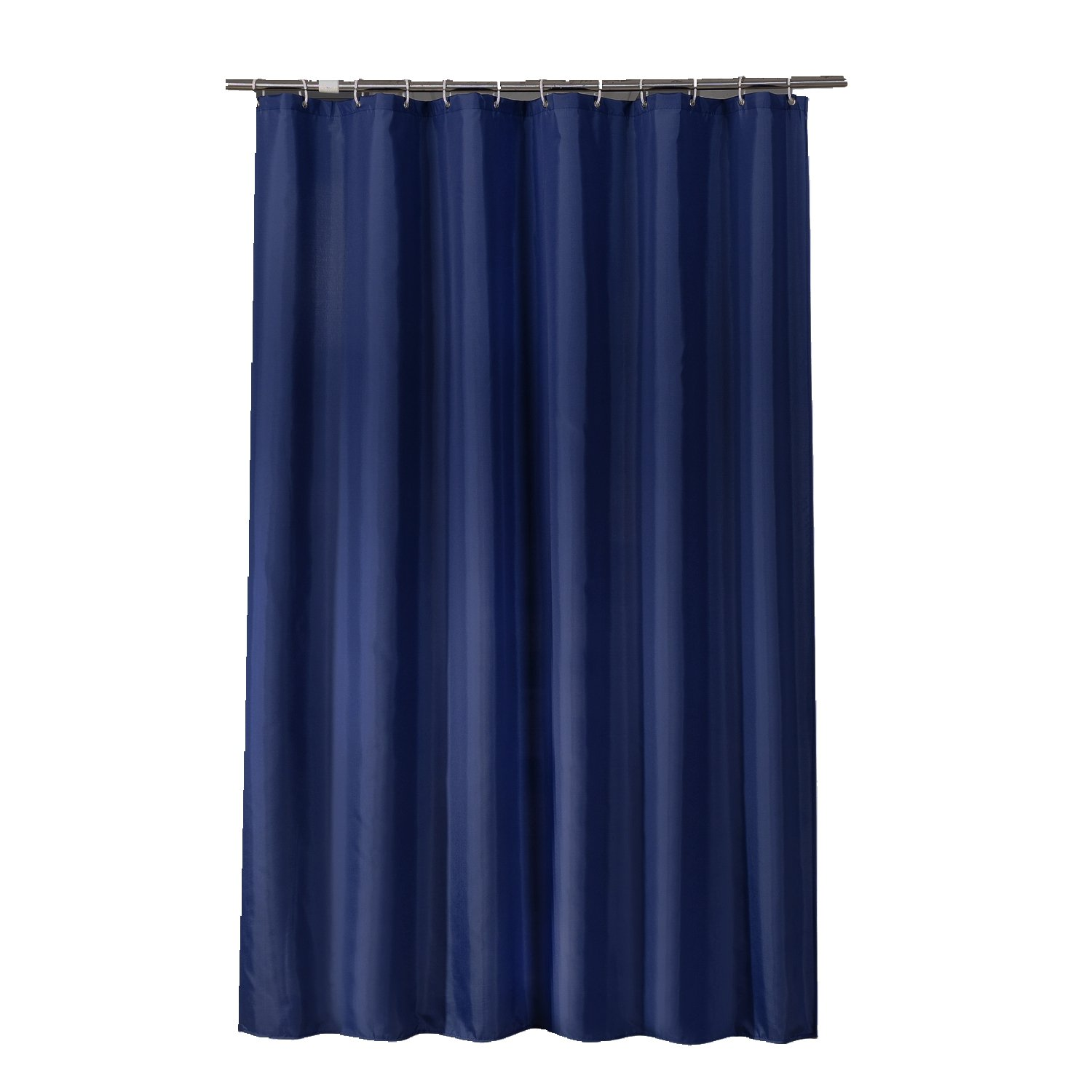 Sfoothome 60 Inch Wide x 72Inch Long Hotel Fabric Shower Curtain Waterproof and Mildew Free Bath Curtains Heavy Weight, Navy Blue