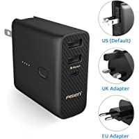 Pisen Travel Wall Charger And Portable Charger 5000mAh With EU UK AC Plug Adapter