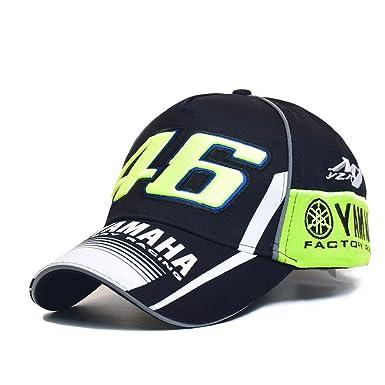 a27f84ab5 Moto GP 46 Motorcycle 3D Embroidered F1 Racing Cap Men Snapback Caps Rossi  VR46 Baseball Case Yamaha Hats