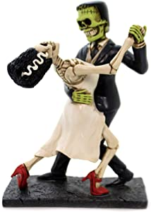 YTC Frank And Bride Dancing Skull Figurine