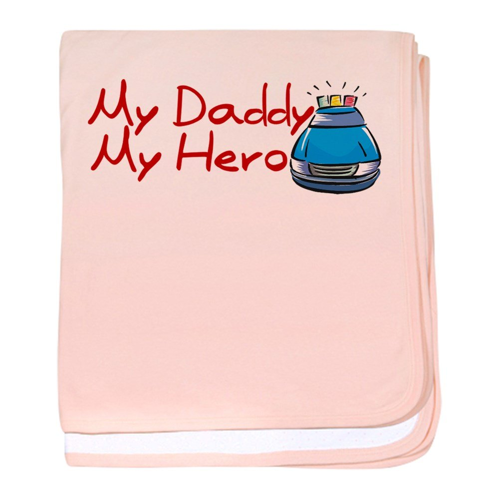 CafePress - Police - My Daddy My Hero Infant Blanket - Baby Blanket, Super Soft Newborn Swaddle