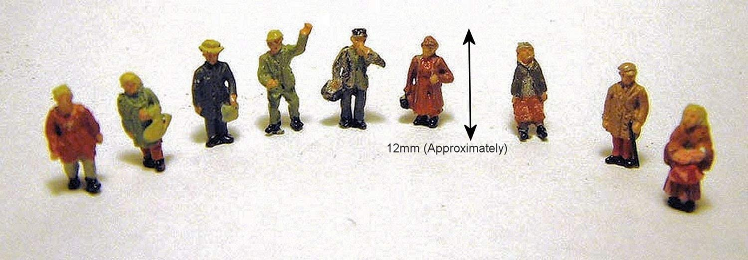 Langley Models 6 Rock Climbers N Scale 1:148  Ready Made /& Painted Metal Model People Figures A104p