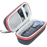 Duro Viajar Caso Cubrir para Braun Series 3 340s-4 3090 3030S 3020s Wet & Dry de uso Afeitadora Eléctrica Viajar Caso box porSANVSEN