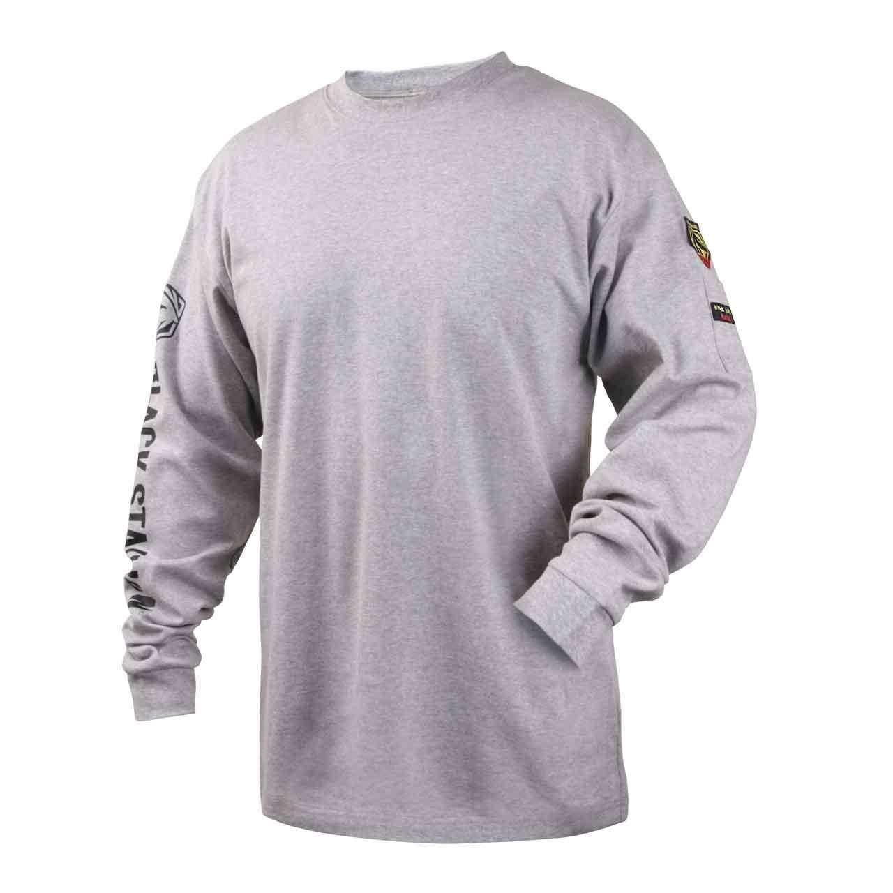 Black Stallion TF2510-GY NFPA 2112 & NFPA70E FR Cotton Knit Long-Sleev