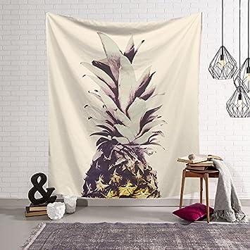 Modern Art Pared Alfombra tropicales Piña tapiz pared adornos pared decoración toalla de playa Edredón Mantel Ventana Cortina para salón dormitorio ...