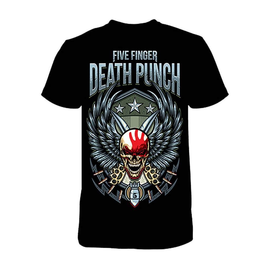 Five Finger Death Punch Unisex Wing Shield Tshirt