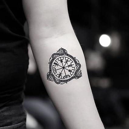 Tatuaje Temporal de Brújula Vegvisir (2 Piezas) - www.ohmytat.com ...