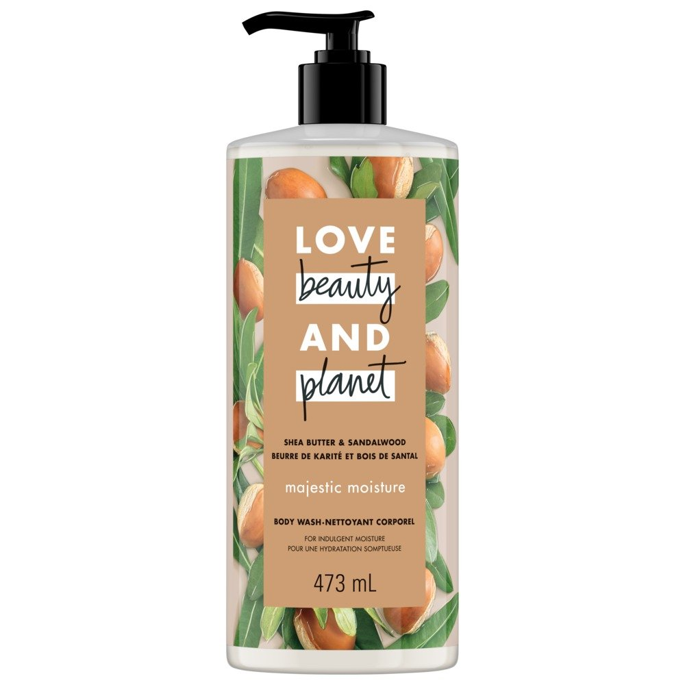 Love Beauty And Planet Shea Butter & Sandalwood Majestic Moisture Body Wash 473 mL Unilever
