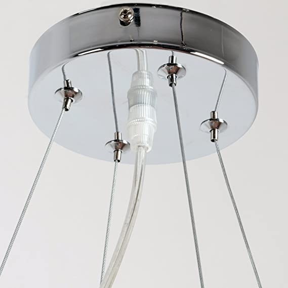 Unitary brand silvery round vintage barn metal hanging ceiling unitary brand silvery round vintage barn metal hanging ceiling chandelier max 280w with 7 lights chrome finish amazon greentooth Images