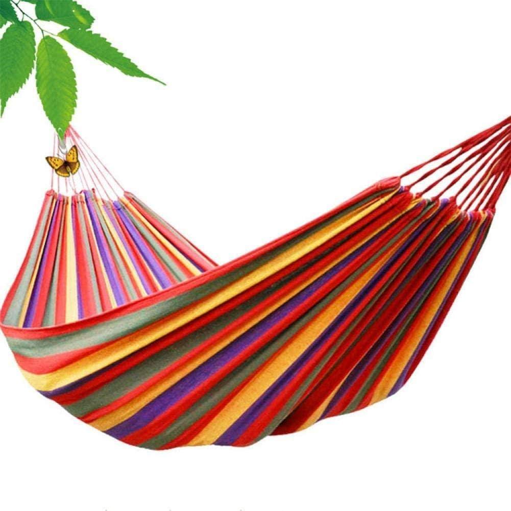 Zixin Silla de la Hamaca, Hamaca Acampar al Aire Libre de la Lona residencia de Estudiantes Silla del Dormitorio casa Colgante, Rojo Doble (190 * 150) Color : Red Widens (190 * 100)