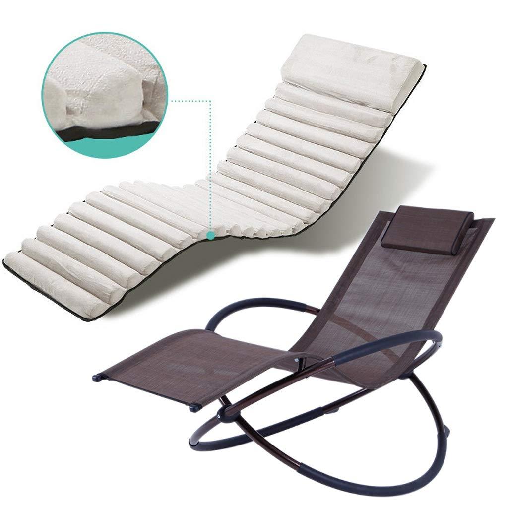 寝椅子、屋外ラウンジチェア、ガーデン、中庭、デッキ、ロッキングチェアに適しています折りたたみ家庭用怠惰なレジャーソファー用チェアライト昼寝休憩用チェア (Color : A) B07SG1HYG8 A