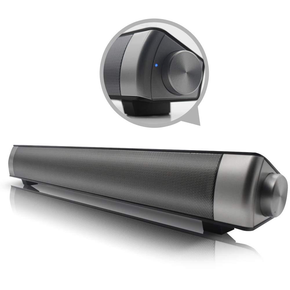yunbox299_Speaker Loudspeaker Horn, LP1811 10W Soundbar Wireless Bluetooth Stereo Bass Speaker Subwoofer for TV PC - Black