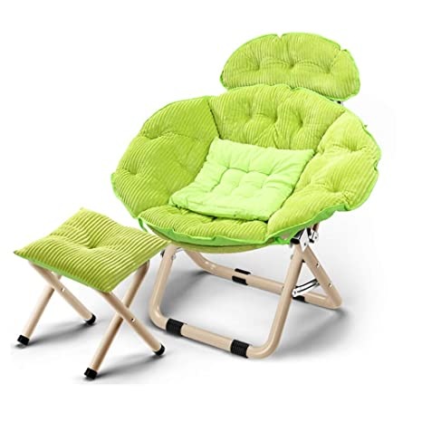 Amazon.com: Lazy couch JUN Moon Chair Recliner Folding Chair ...