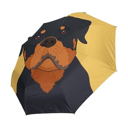 ALAZA Viaje del perro de Rottweiler automático de apertura/cierre del paraguas con la anti-UV a prueba de viento ligero: Amazon.es: Equipaje