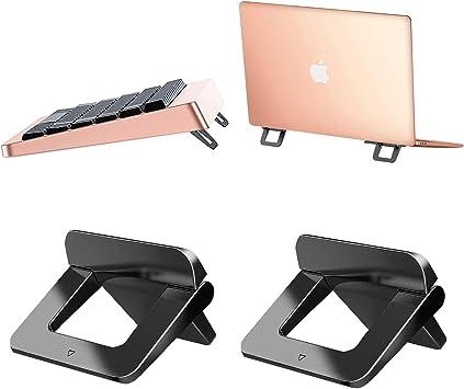 Laptop Stand Tendak Invisible Notebook Stand Mini Laptop Ständer Portable Table Laptop Holder Mount Kompatibel Mit Allen Laptops Tablets Apple Macbook Lenovo Hp Acer Notebook Und Tastatur 2 Stück Bürobedarf Schreibwaren