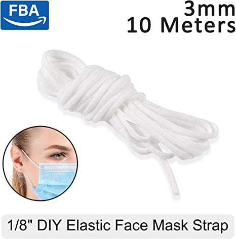 Amazon Com White Elastic Cord Earloop For Face Mask Elastic Loop Ear Rope Stretch Flat String Craft Project