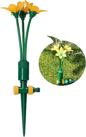 Sprinkler on stake complete irrigation kit,360 degree ADJUSTABLE heads Garden
