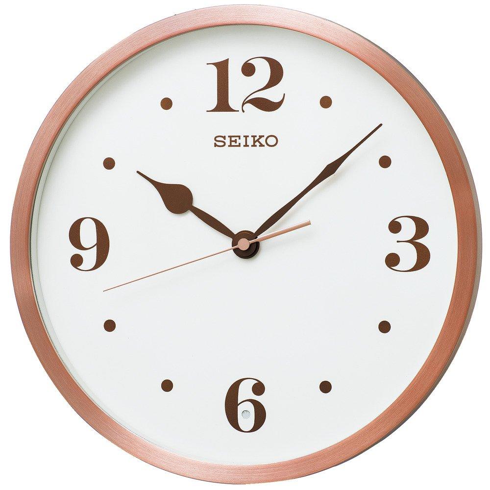 セイコー クロック 掛け時計 電波 アナログ ピンク ヘアライン KX226P SEIKO B074X167TMピンクヘアライン